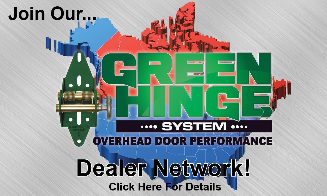 Green Hinge System Heavy Duty Garage Door Hinges