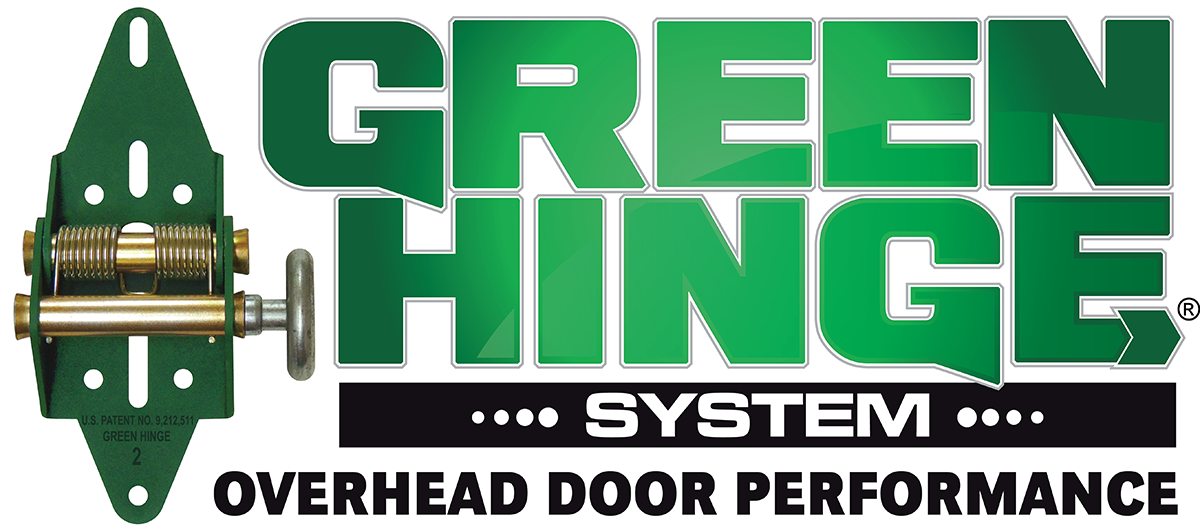 Green Hinge System - Spring Loaded Garage Door Hinges, Seal Your Garage Door