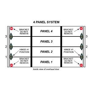 2 Stall 4 Panel Residential Garage Door System