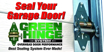 Green Hinge System Display Sign