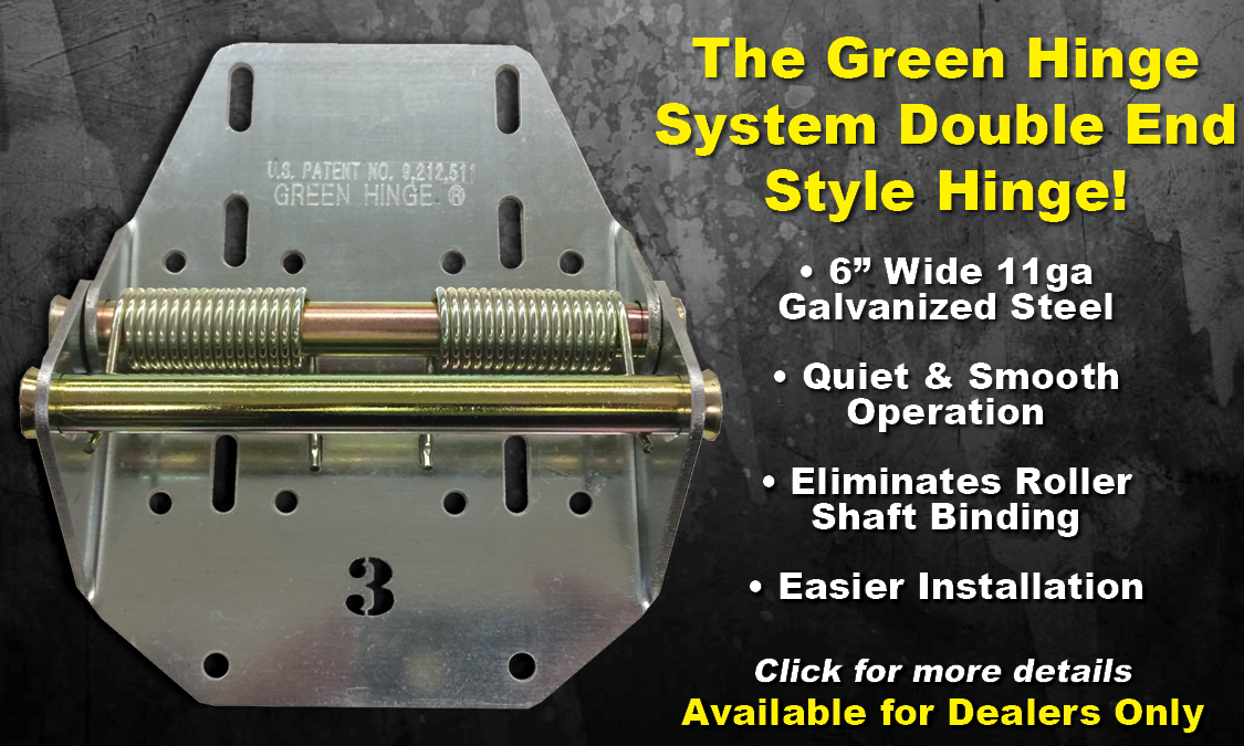 Green Hinge System Heavy Duty Garage Door Hinges