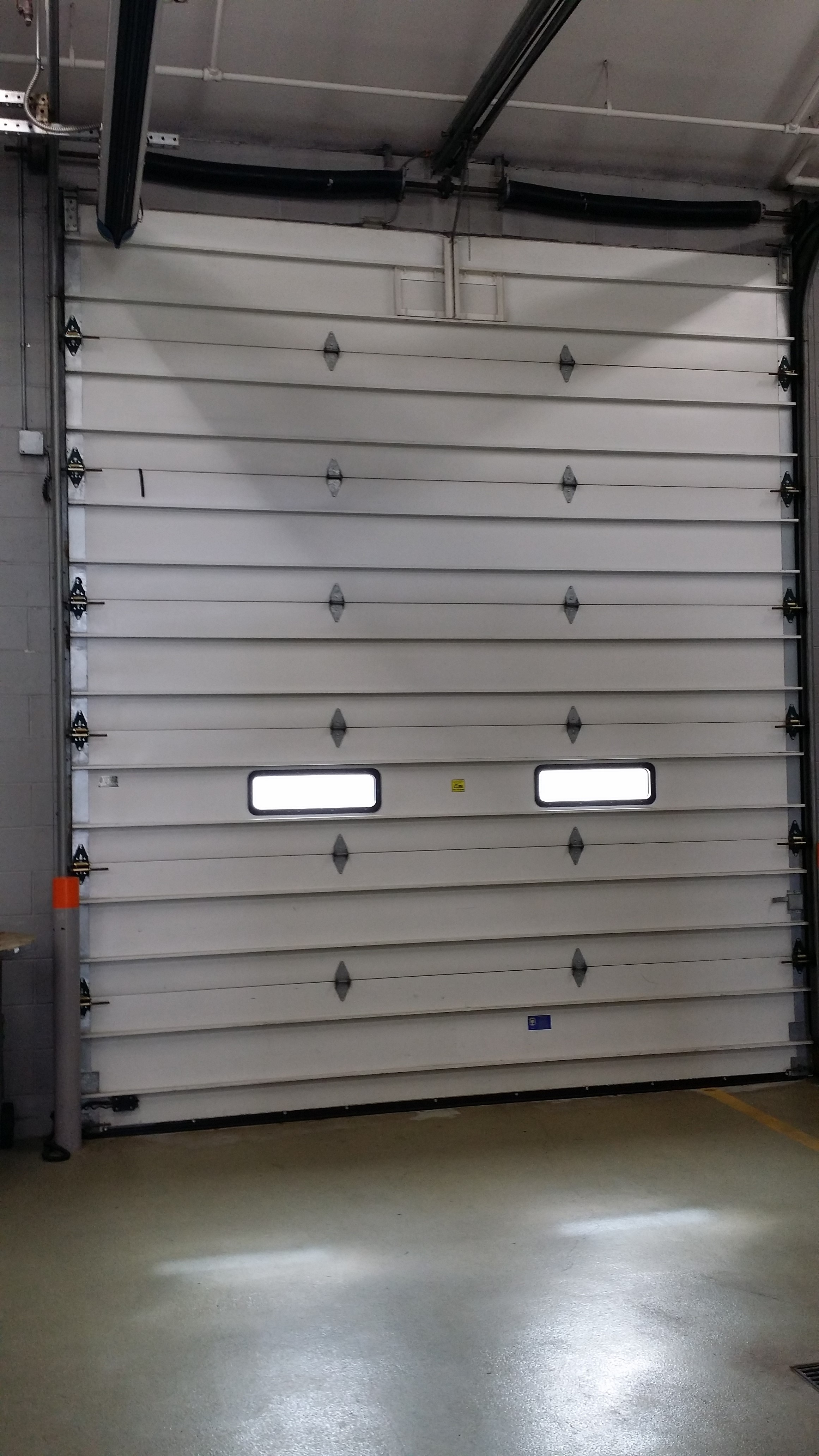 large commercial door hinge