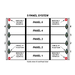 2 Stall 5 Panel Residential Garage Door System