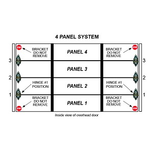 Single Stall 4 Panel Residential Garage Door System