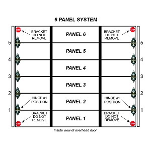 2 Stall 6 Panel Residential Garage Door System